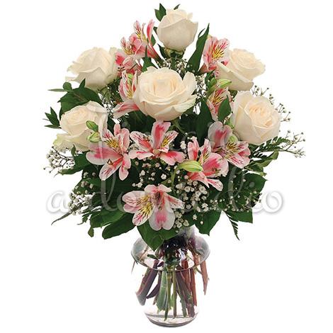 bouquet_alstromeria_rosa_rose_bianche