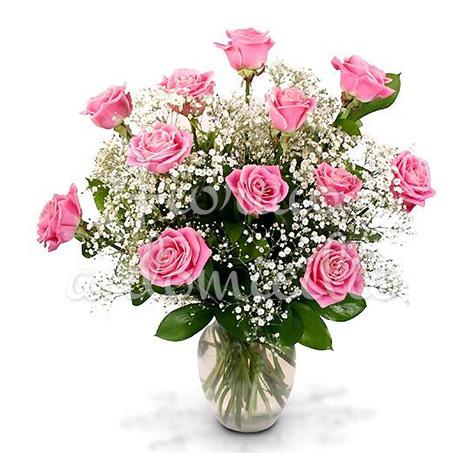 bouquet-12-roselline-rosa