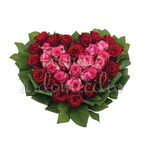 cuore-rose-rosse-rosa